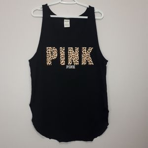 PINK Black Cheetah Print Tank Top